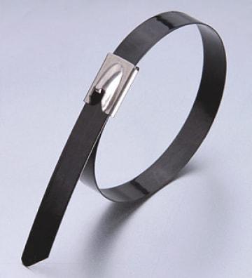 Стяжки крепежные из нержавеющей стали AISI 304 с полимерным покрытием