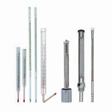 Термометры стеклянные жидкостные с защитной гильзой